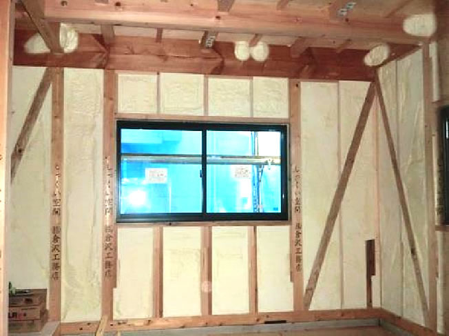 高気密・高断熱の家の施工例