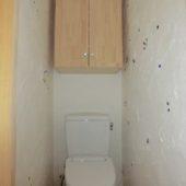 漆喰の壁 トイレ おはじき